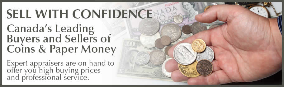 Sell To Us - World and Canadian Coin Value and Paper Money Value