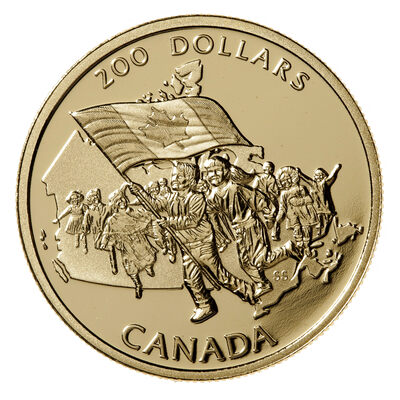 200 1990 Gold Coin Canada S Flag Silver Jubilee Royal