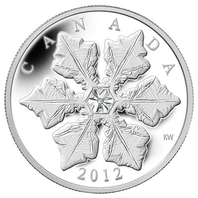 20 2012 Fine Silver Coin Holiday Snowflake With Crystal