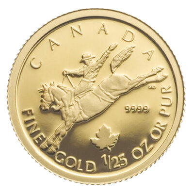 50c 2006 1 25 Oz Gold Maple Leaf Special Issue Cowboy